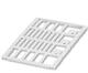 Пластина(белая) для маркировочных колец (PATG, PATO) UC-WMT 23x4